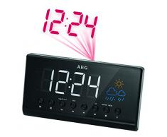 AEG MRC 4141 - Radio reloj (LED, proyección de la hora), color negro