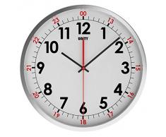 Unity Avon - Reloj de pared silencioso, de acero inoxidable, 30 cm, color blanco