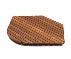 AsinoX TEK3A7272R - Tarima de ducha y baño, madera de teca