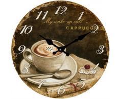 Reloj de cristal de café redonda, 30 cm