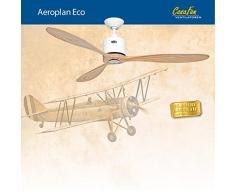 Ventilador de techo CasaFan 313251 AEROPLAN ECO madera maciza/ blanco