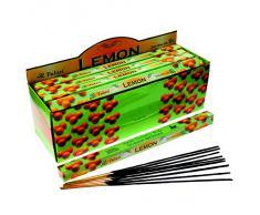 Tulasi - Varillas de incienso con aroma a limón, lote de 25 paquetes
