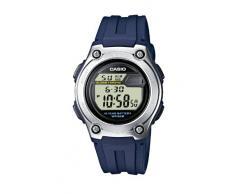 Casio CASIO Collection - Reloj digital unisex de cuarzo con correa de resina azul (luz, cronómetro, alarma) - sumergible a 50 metros