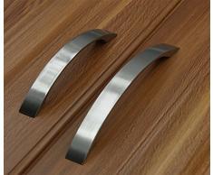 Chytaii 2pcs Tirador Manijas Mango de Puerta Caj/ón Gabinete Manija de Puerta Tirador para Mueble Color Silver 64mm