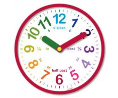 Acctim 21884 Lulu Reloj de pared, color rojo