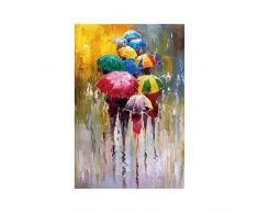 Provide The Best La Gente con Foto Paraguas Cuadros de la Pared Arte de la Acuarela Lienzo Impreso Gente de Dibujo Aceite Paraguas Poster sin Marco Home Office Decor