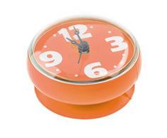 Finer Shop Reloj de Pared Resistente al Agua de Baño Ducha con Ventosa Moda - Naranja