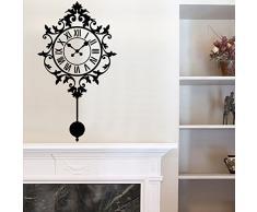 "vinilo decorativo ""Reloj de péndulo ornamental"". Color negro. Medidas: 45x80cm"