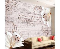Fotomural 100x70 cm ! 3 tres colores a elegir - Papel tejido-no tejido. Fotomurales - Papel pintado 100x70 cm - madera flores b-A-0170-a-d
