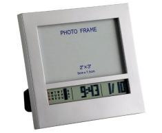 TFA Dostmann 98.1028 - Reloj despertador digital, con marco para fotos