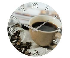 Hama 00136217 - Reloj de pared, Café