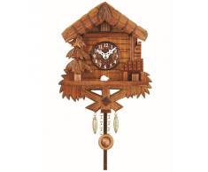 Kuckulino Reloj en miniatura de la selva negra cuarzo con llamada del cucú, incluye batería TU 2029 PQ