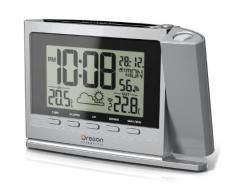 Oregon Scientific TW369 - Reloj proyector con estación meteorológica, color plateado