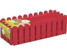 Emsa 512657 - Jardinera (75 cm), color rojo