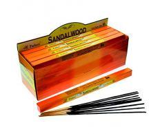 Tulasi - Varillas de incienso con aroma a sndalo, lote de 25 paquetes