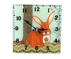 Reloj de pie - estante de cristal diseño de conejo reloj (142 - 549)