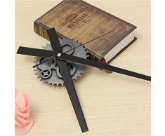 Aliciashouse Vintage reloj DIY mecanismo reloj movimiento engranaje Retro reloj de pared grande Home Decor-plata