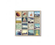 Umbra 311030-390 Gridart - Marco de fotos múltiple, color madera