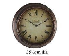 Chateau de diseño antiguo marrón 35 cm Dial de romano reloj de pared