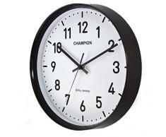 Champion Bold - Reloj de pared de movimiento de cuarzo, para oficina, grande, con manecilla segundera - negro
