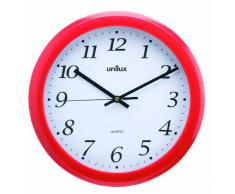 Unilux Rainbow - Reloj de pared, color rojo