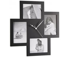 Contemporary Living Reloj de pared Collage 4F Negro