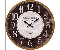 RELOJ DE PARED DISENO GRAND HOTEL DECORACION 30CM NOSTALGIA - Tinas Collection