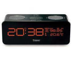 Oregon Scientific RRM320P - Reloj con radio FM y proyección, negro