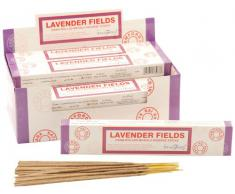 Stamford McGuinness Lavender Fields - Varillas de incienso, lote de 12 paquetes
