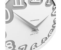 Calleadesign - Reloj de pared Labyrinth, café con leche