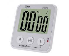 Anself LCD Digital temporizador de cocina Countdown Timer alarma Count Down de cocina
