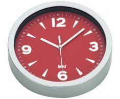 Kela 17159 - Reloj de pared con esfera, plástico, 20 cm, color rojo