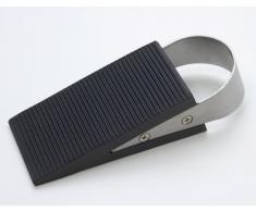 1 Tope puerta Cuña de puerta Cuña de mueble acero fino / goma cepillado / negro 130 x 50 x 35mm