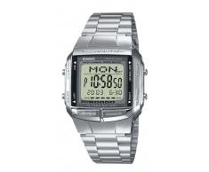 CASIO Collection DB-360N-1AEF - Reloj digital con correa de acero inoxidable para hombre (cronómetro, alarma, luz), color plateado