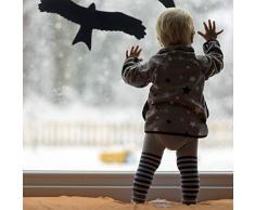 Relaxdays - Pegatinas para Ventanas y Puertas de Cristal, diseño de pájaros y pájaros, 9 Unidades, Color Negro