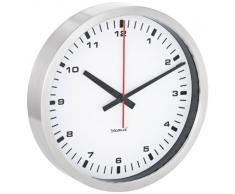 Blomus 63210 - Reloj de pared, esfera blanca, 30 cm, color plateado