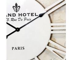 Reloj de pared antiguo blanco esqueleto París