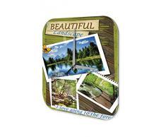 Reloj De Pared Gira Mundial Marke hermoso bosque paisajes Plexiglas Imprimido 25x25 cm