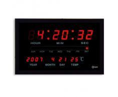 Orium - Reloj de pared digital con iluminación LED (cable de 1,8 m)