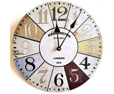 RELOJ DE PARED DISENO LONDRES KENSINGTON SHABBY CHIC 30CM MULTICOLOR - Tinas Collection
