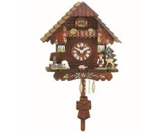 Kuckulino Reloj en miniatura de la selva negra casa de la selva negra cuarzo con llamada del cucú, incluye batería TU 2037 PQ