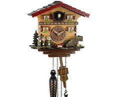 Reloj De Cuco de madera en la selva negra con batteriebetriebenem quartzwerk y Cuco RUF - Oferta de relojes de Park Eble - Bremen 21 cm de
