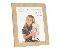 Inov8 12 x 25,4 cm marco de fotos de madera de tradicional de madera/marco de fotos, 2 unidades, diseño de reloj de arena