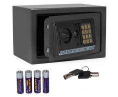 TecTake - Caja fuerte electrónica (capacidad de 20 l, 20 x 31 x 20 cm, incluye 4 pilas), color negro