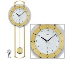 Reloj De Péndulo AMS Reloj de pared, 5255 con colgante cristal mineral con messinglackierten varillas de metal