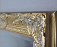 De estilo barroco y de colour oro antiguo de espejo de pared con espejo de baño de madera con diseño de adornos