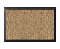 Bi-Office Kamashi - Tablón corcho natural, 90 x 60 cm, color negro