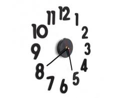 SODIAL(R) Reloj Adhesivo Pared Movimiento + Numero Arabigo DIY Negro