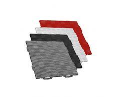 TERRAGUIDE CLASSIC Placas para suelo / terraza 1m², 4 unidades de 50 x 50cm, 16 baldosas de clic, negro