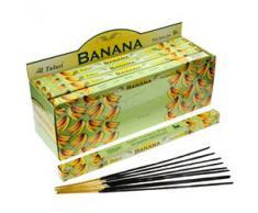 Tulasi - Varillas de incienso con aroma a plátano, lote de 25 paquetes